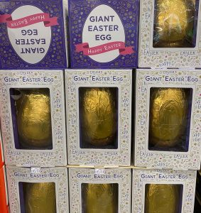Costco Giant Gold Easter Egg