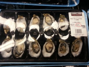 Dozen pacific oysters tray