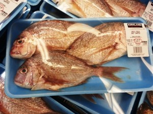 Whole fresh baby snapper at Costco
