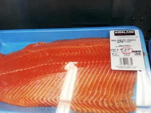 Salmon fillets from Costco