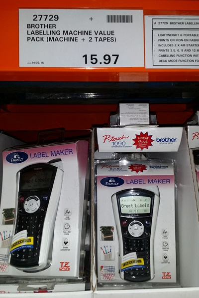 Brother-P1090-label-maker-Costco-Australia-97-cent-special